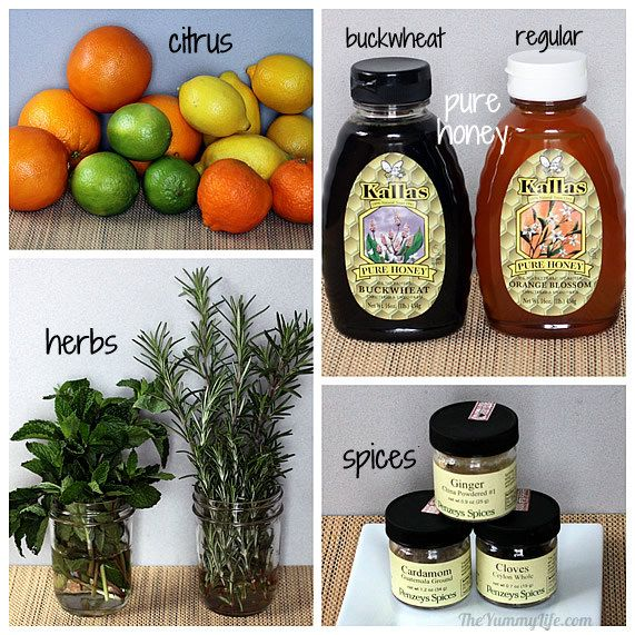 Natural Honey Citrus Syrups for Coughs & Sore Throats Soothe a cold or enjoy a deliciously flavored cup of hot water or tea. TheYummyLife.com