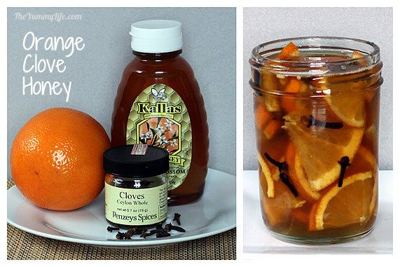 Orange clove honey syrup