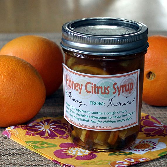 Honey syrup gift jars
