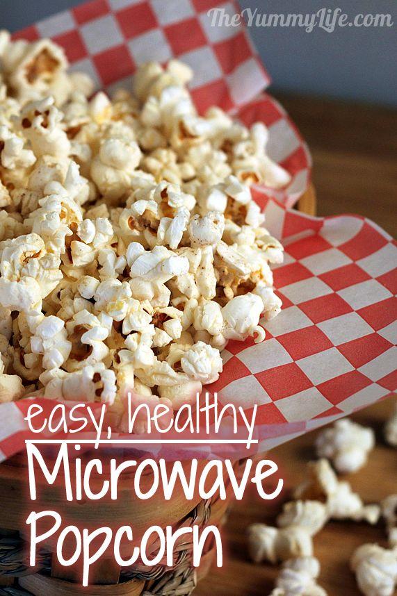 Homemade Microwave Popcorn