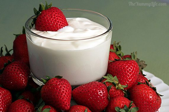 Strawberries and Cream Dip - A healthy makeover