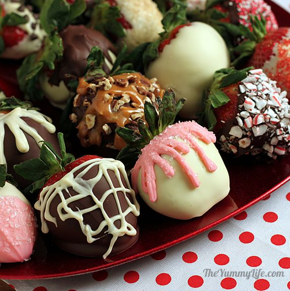 easy chocolate covered strawberries with a gourmet flair, Ideas