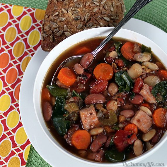 Slow Cooker 15 Bean Soup