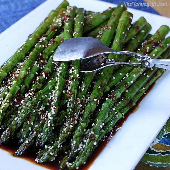 Asian asparagus or green beans easy asian asparagus or green beans make it spicy or mild gluten ccuart Image collections