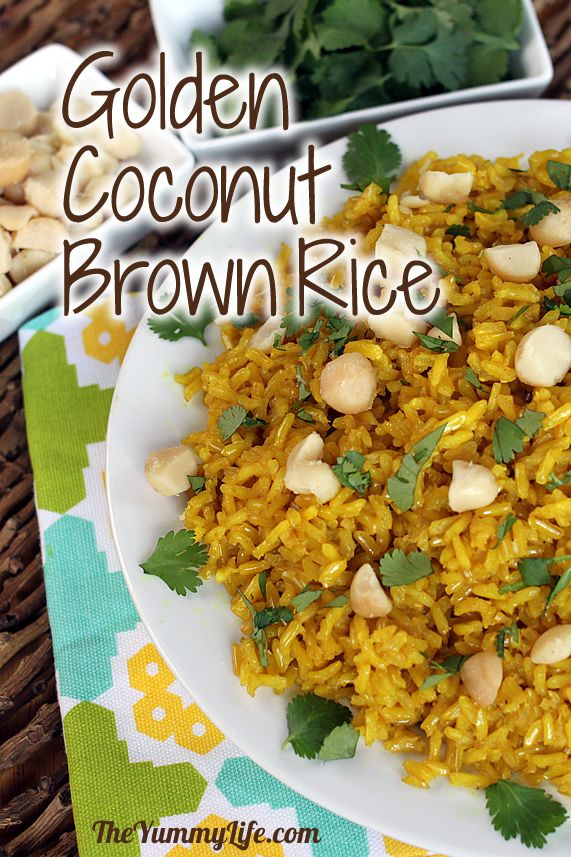 Coconut Brown Rice Recipe — Dishmaps