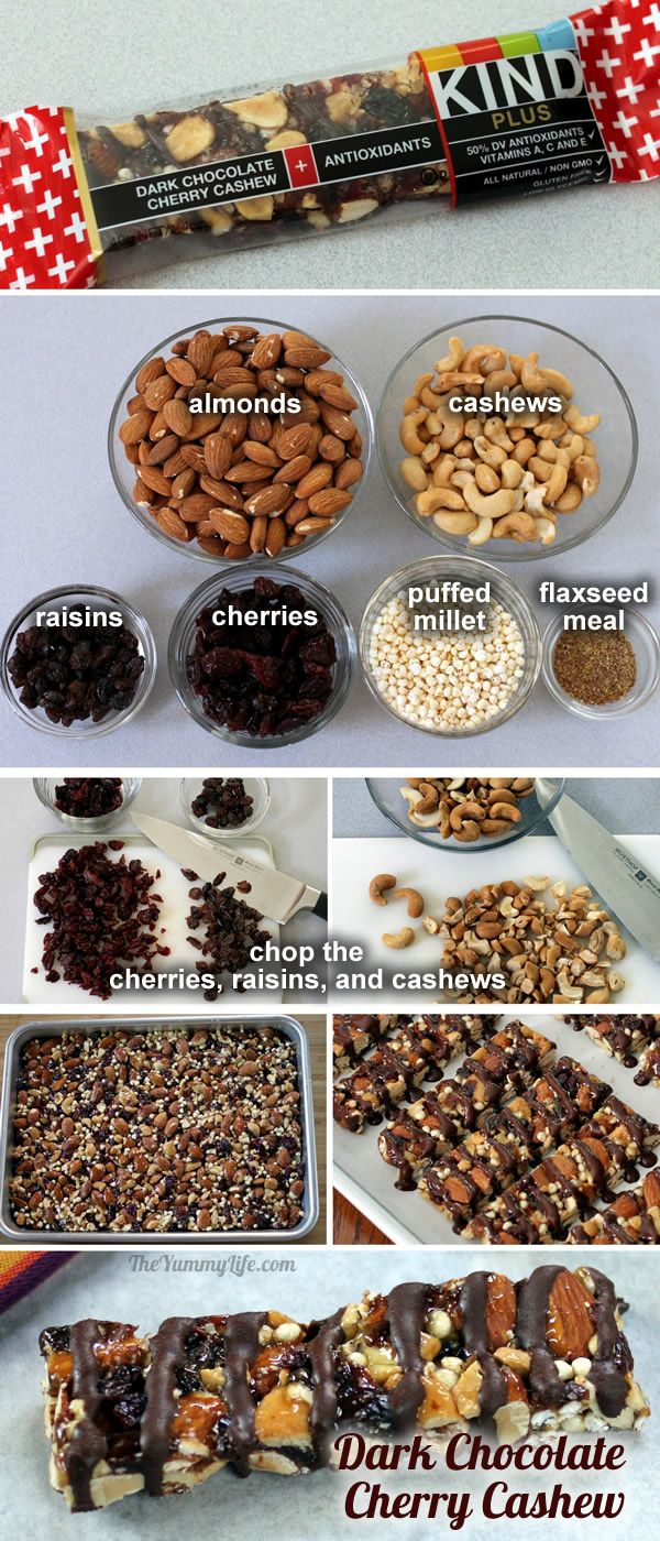 Dk Chocolate Cherry Cashew KIND bar