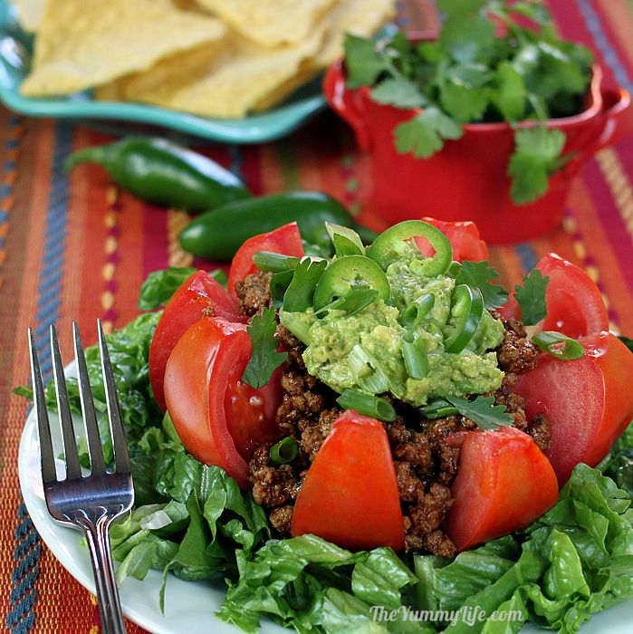 tomato taco salad