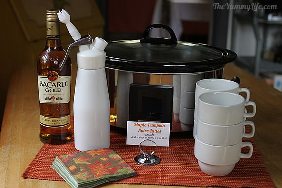 How to serve Slow Cooker Maple Pumpkin Spice Lattes