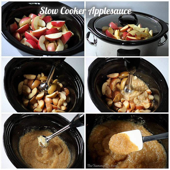 slow cooker Fruit & Spice Applesauce Blends