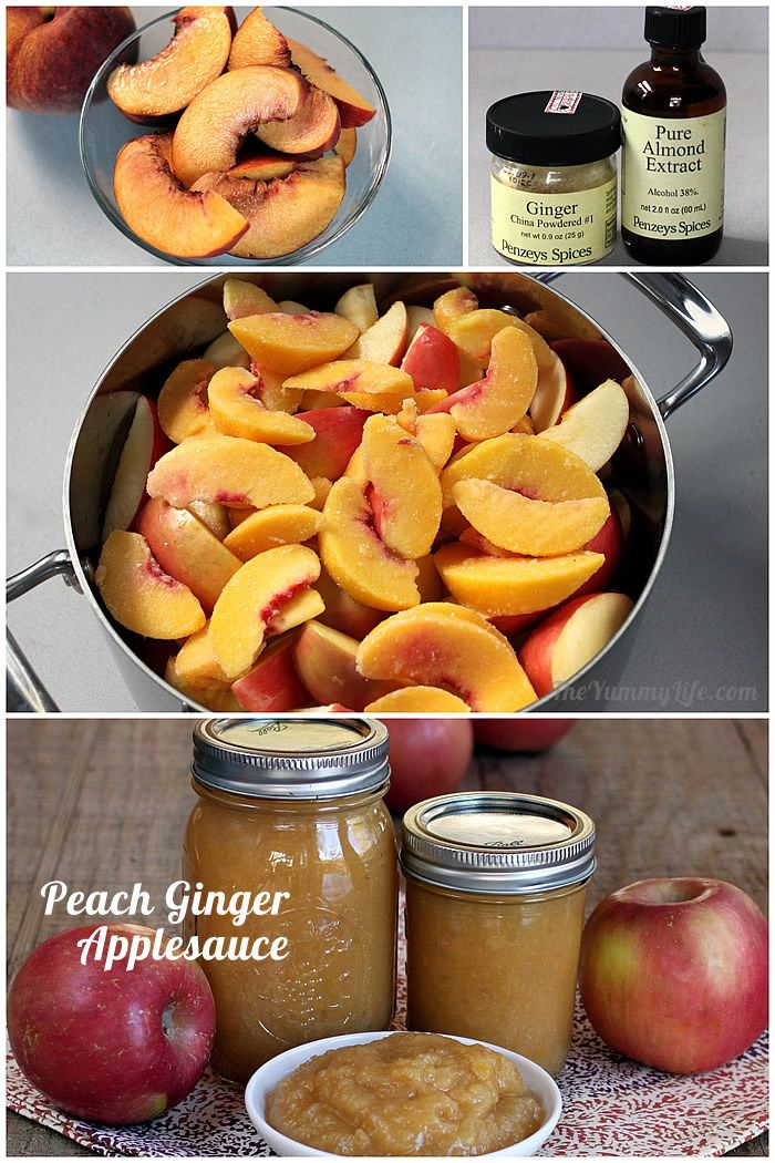 Peach Ginger Almond Applesauce