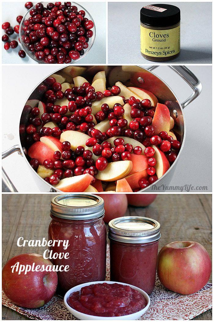 Cranberry Clove Applesauce
