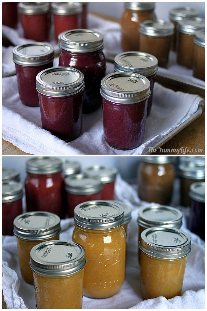 Fruit & Spice Applesauce Blends in jars