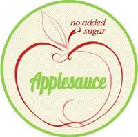 plain applesauce label