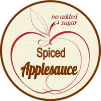 spiced applesauce label