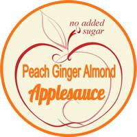 peach ginger almond applesauce label