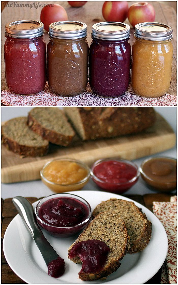 Fruit & Spice Applesauce Blends on toast