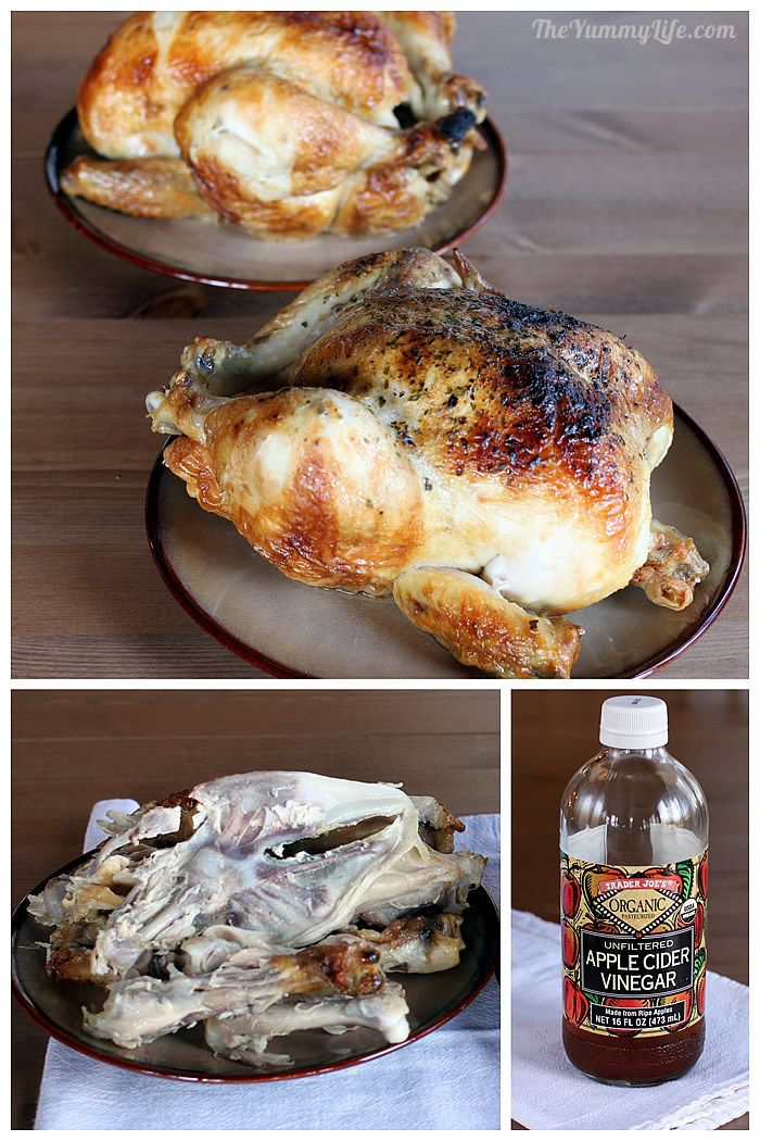 stock recipe chicken bones bad