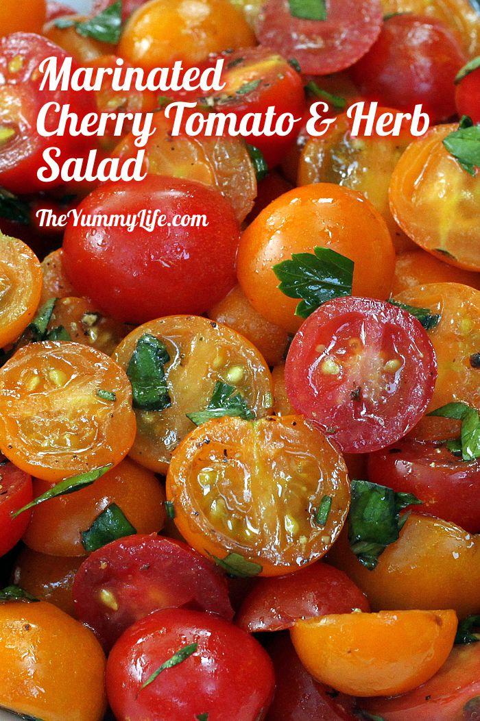 Marinated Cherry Tomato & Herb Salad