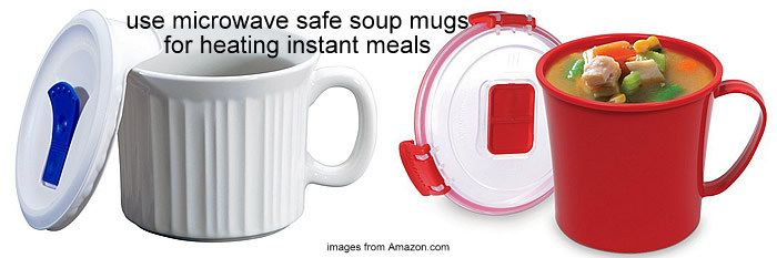microwave safe mugs for heating instant meals