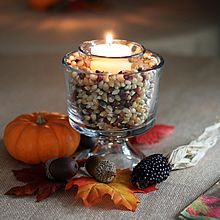 Fall votive candle