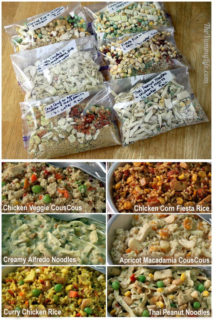 DIY Instant Backpacking Meals