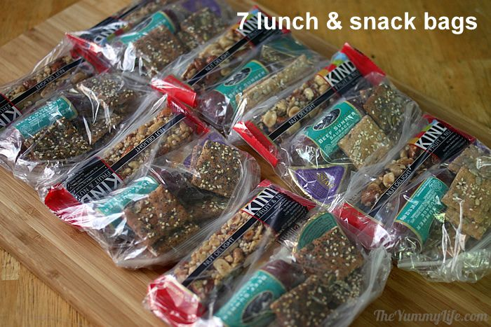 Lunch & snack food for packpacking