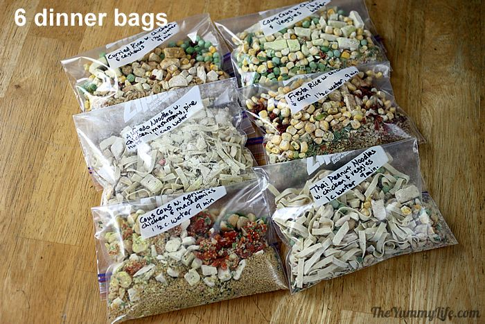 Dinner meals for backpacking