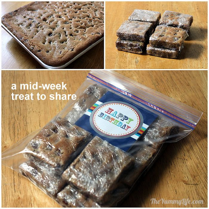 Cookie bars for a backpacking treat
