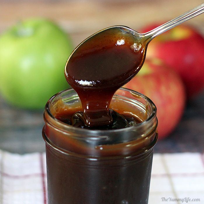easy, naturally sweet, Apple Cider Syrup