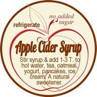 Apple Cider syrup jar label