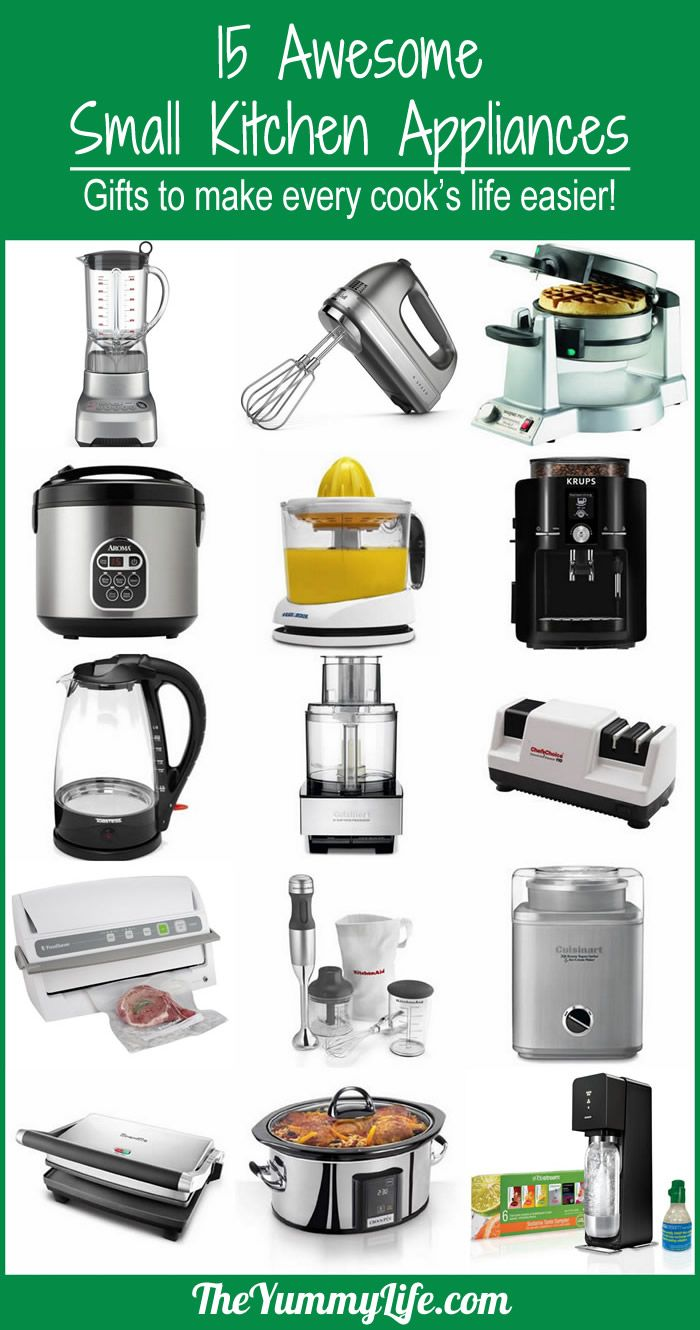 charming List Of Small Kitchen Appliances #2: The Yummy Life