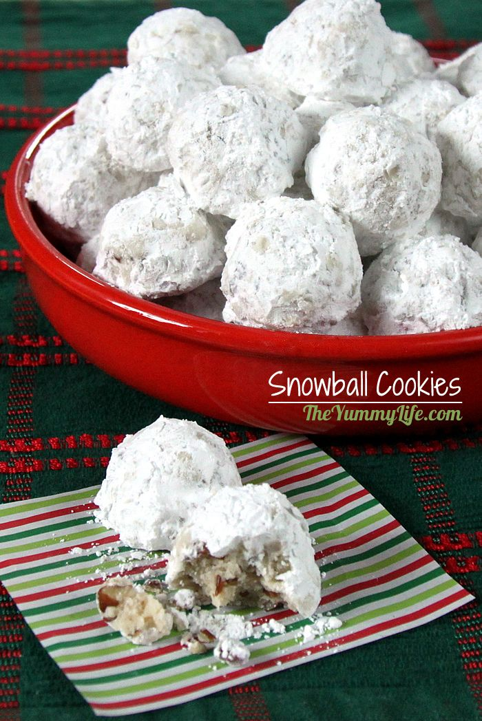 Snowball Cookies A Favorite Traditional Christmas Cookie In The US And Also Loved Around
