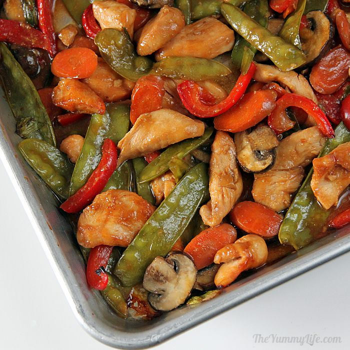 Easy oven baked sheet pan asian stir fry skip the wok and make this easy oven baked sheet pan recipe with traditional forumfinder Gallery