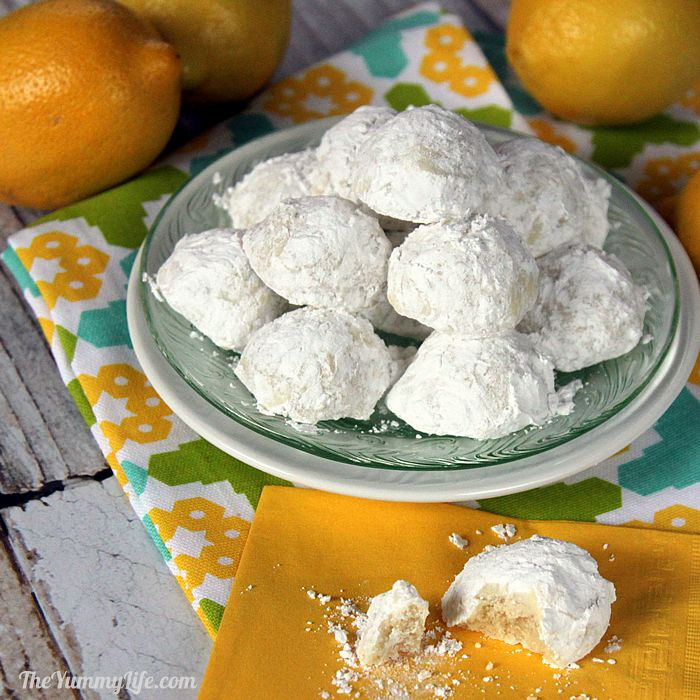 Lemon Snowball Cookies - Reminiscent of Lemon Coolers from my childhood.