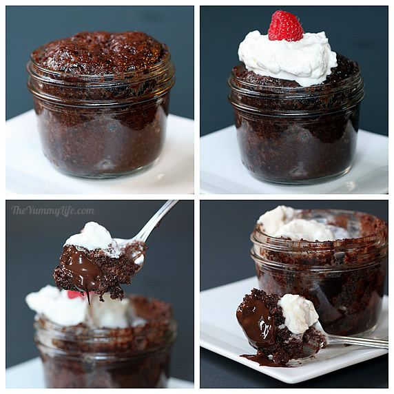 Choco lava cake in a mug
