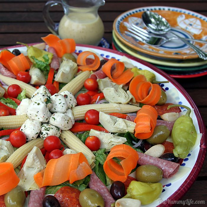 This Italian Antipasto Salad Platter Is Easy Make Ahead And A Beautiful Wow