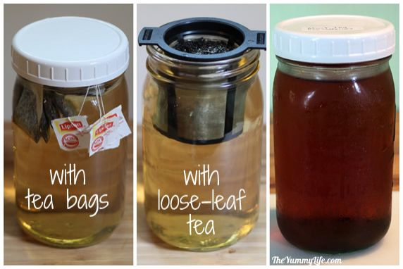 Refrigerator iced tea is smooth without bitterness, and it's easy to make. It's safer to drink than sun tea and you get all of the cancer fighting health benefits found in tea.