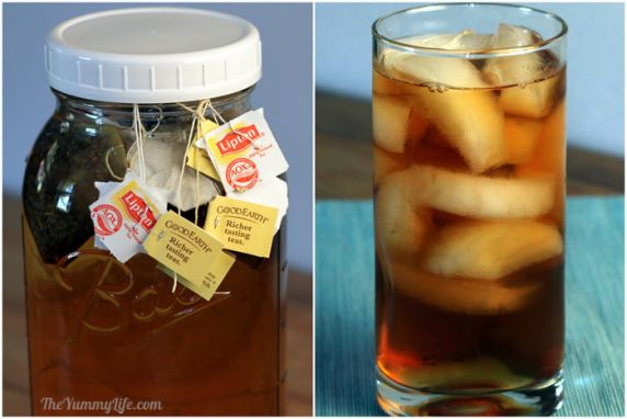 This refreshing, healthy, naturally sweet tea is so easy to make. No boiling water needed; it steeps in the fridge. It's the perfect calorie-free summertime refreshment.