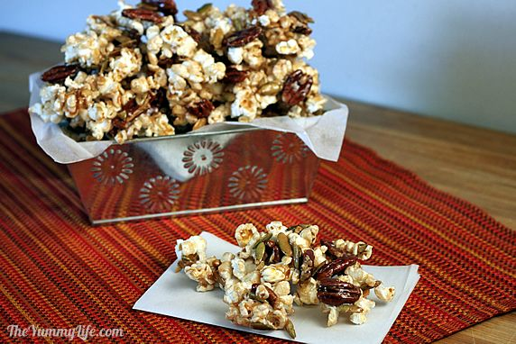 Autumn Spice Popcorn Party Mix