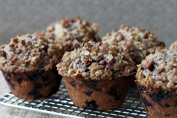 These crowd-pleasing muffins have a crunchy topping and are loaded with wholegrain goodness.