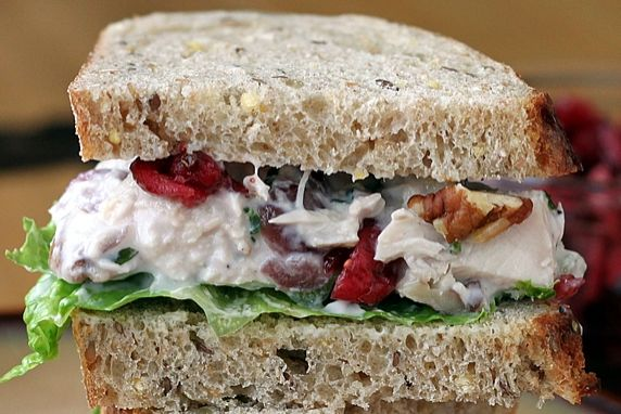Chicken or Turkey Salad with Cranberries & Pecans