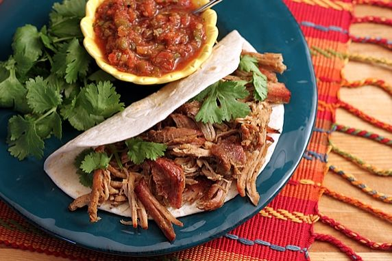 This slow cooked, mildly seasoned, low-fat pork is versatile for use in a variety of Mexican dishes.