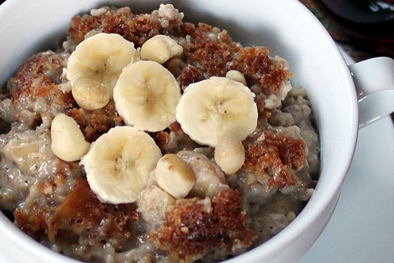 Slow Cooker, Banana & Coconut Milk Steel-Cut Oatmeal