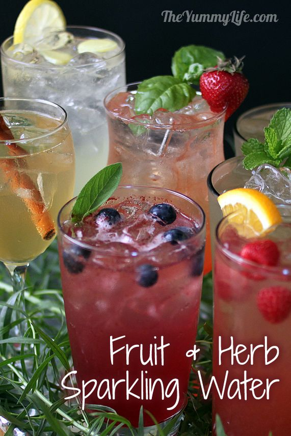 "An easy formula for making a variety of fruit and herb infused waters. Say goodbye to soda, juice, & bottled water with these refreshing ""spa water"" flavors!"