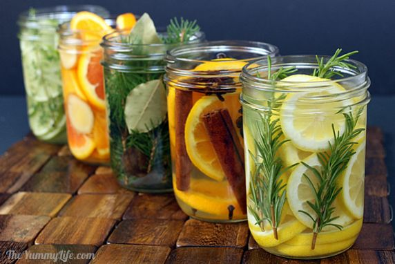 Add fragrance to your home using simmering waters infused with spices, herbs, & fruit.
