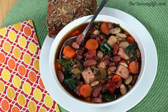 This hearty soup is packed with flavor, fiber, and nutrition. It's naturally gluten free and is easy to adapt for a vegan/vegetarian version.
