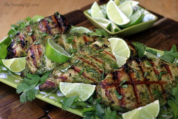 The marinade for this chicken has coconut milk and herbs that both brine and flavor the chicken breasts. The result is moist, tender, and loaded with flavor.