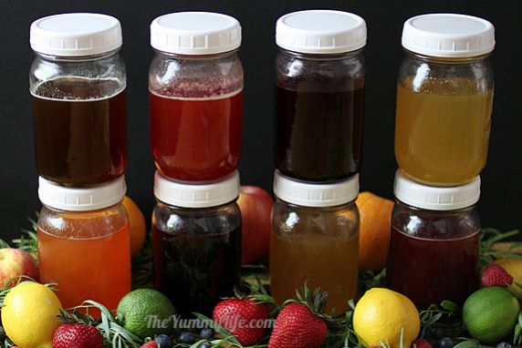 Fruit & Herb Honey Syrups
