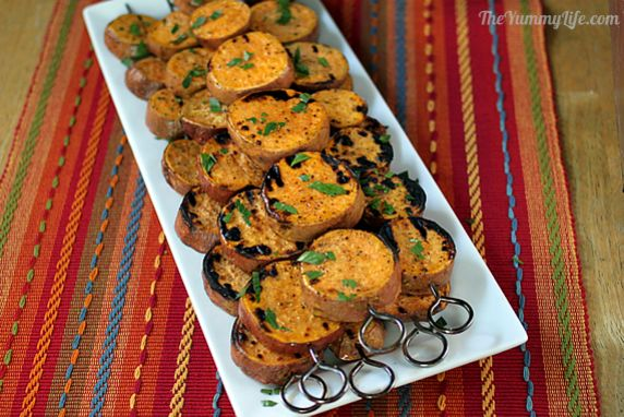 This is a fast, easy way to cook sweet potatoes without heating up the kitchen. They're a flavorful, healthy accompaniment to any grilled meat.