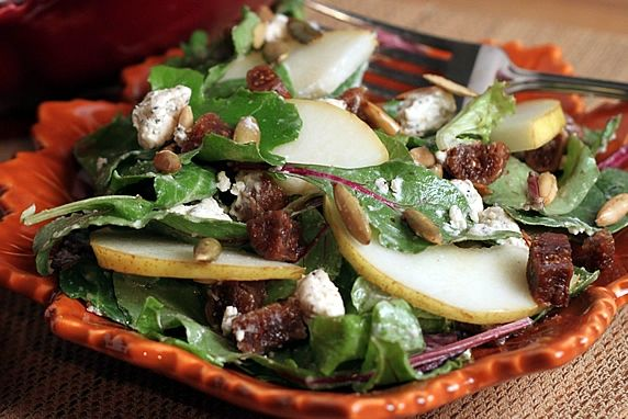 A distinctive blend of seasonal flavors that can easily be modified to suit your taste. The is a delicious lunch or dinner salad.